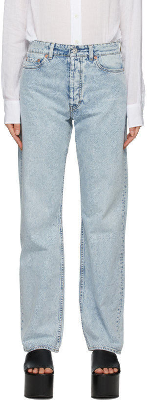 Our Legacy Blue Linear Cut Jeans