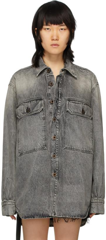 Unravel Grey Denim Moonwash Shirt