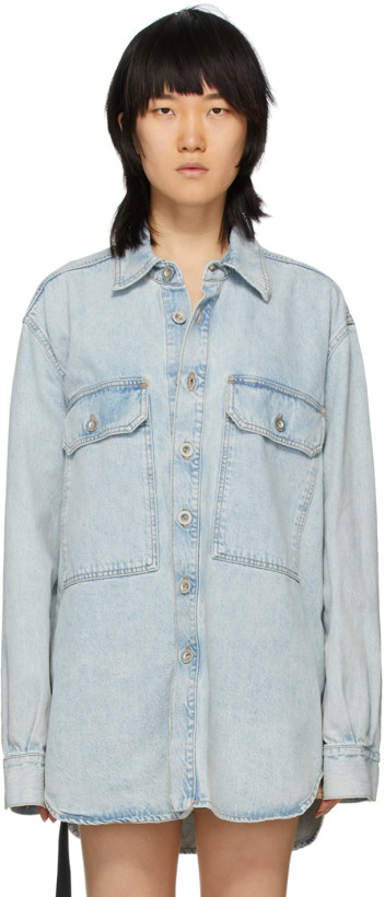 Unravel Blue Denim Moonwash Shirt