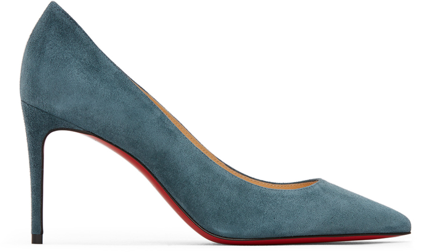Christian Louboutin Blue Suede Kate 85 Heels