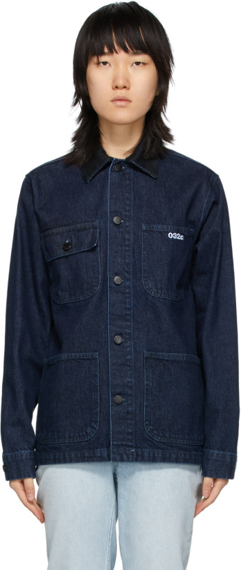 032c Blue Denim Acid Wash Jacket