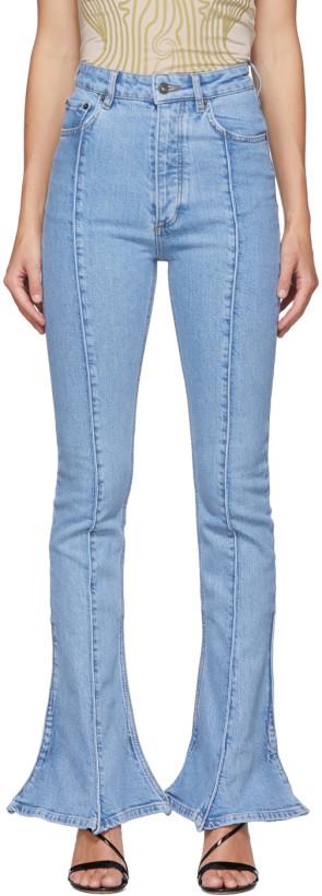 Y/Project Blue Trumpet Jeans