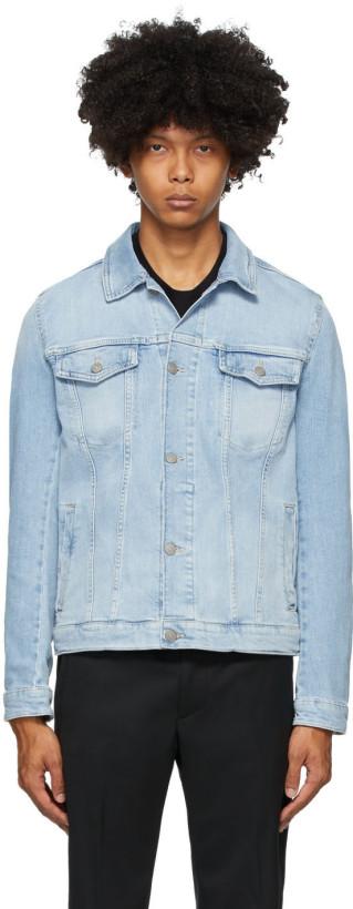 Boss Blue Denim Pastel Jacket
