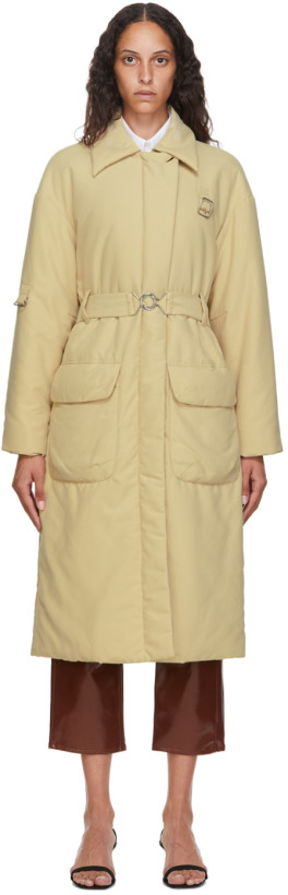 Tibi Tan Clyde Padded Trench Coat