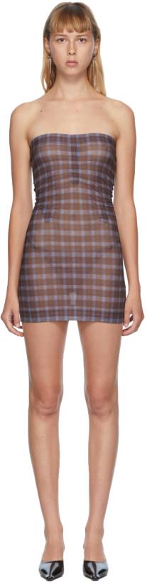 Charlotte Knowles Brown Check Skinn Dress