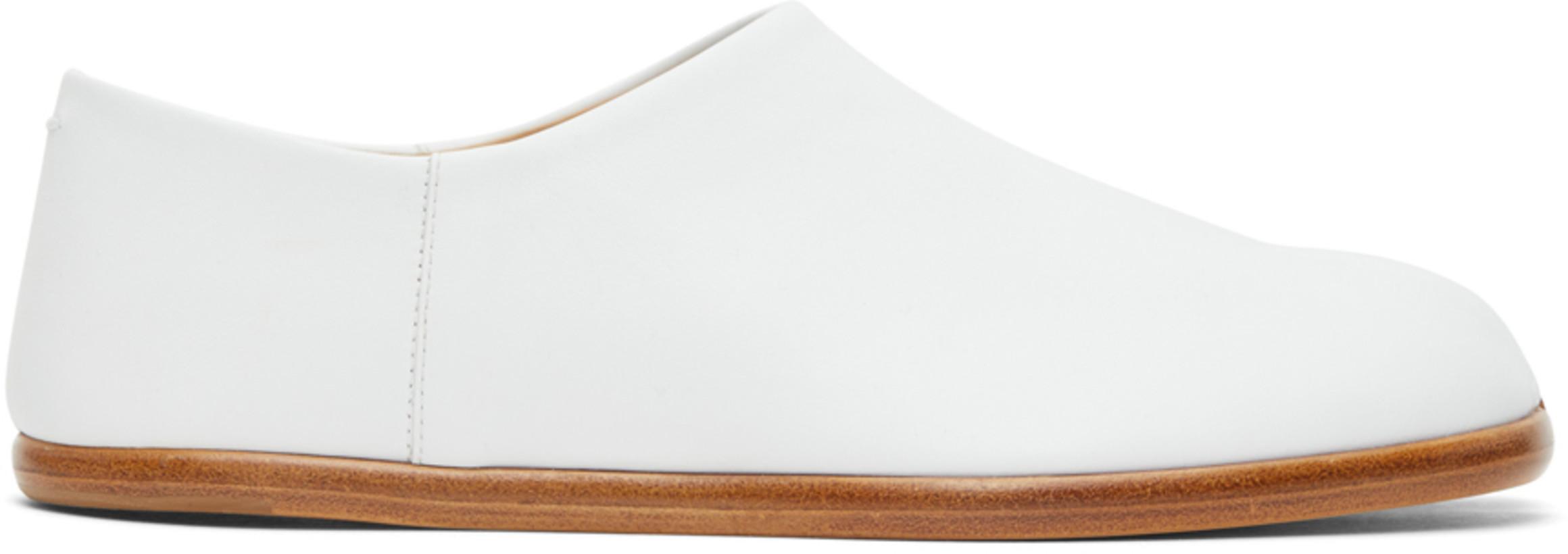 Maison Margiela White Tabi Babouche Loafers