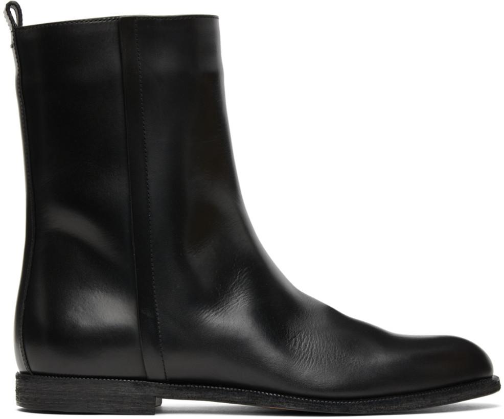 Maison Margiela Black Leather Vintage Boots