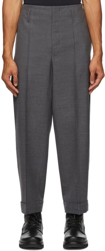 Moncler Genius 7 Moncler Fragment Hiroshi Fujiwara Grey Wool Trousers