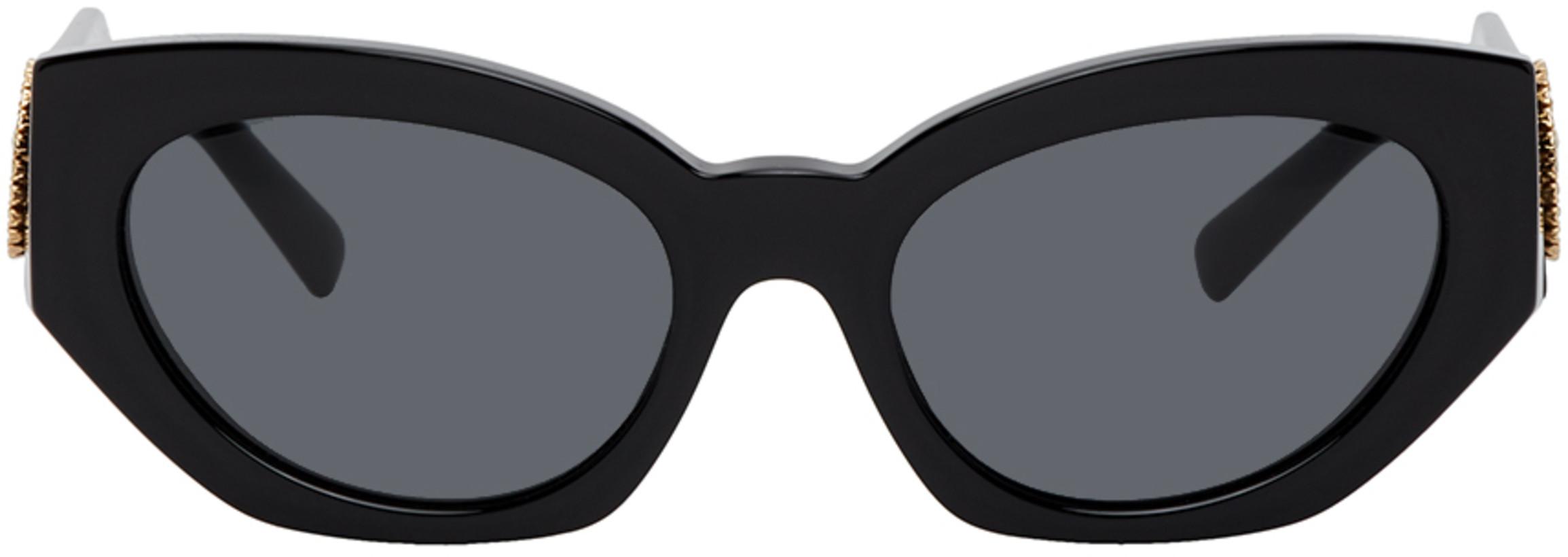 Versace Black Medusa Crystal Sunglasses