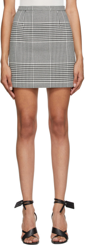 Off-White Black & White Houndstooth Check Miniskirt
