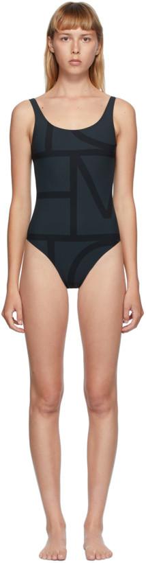 Totême Black Positano One-Piece Swimsuit
