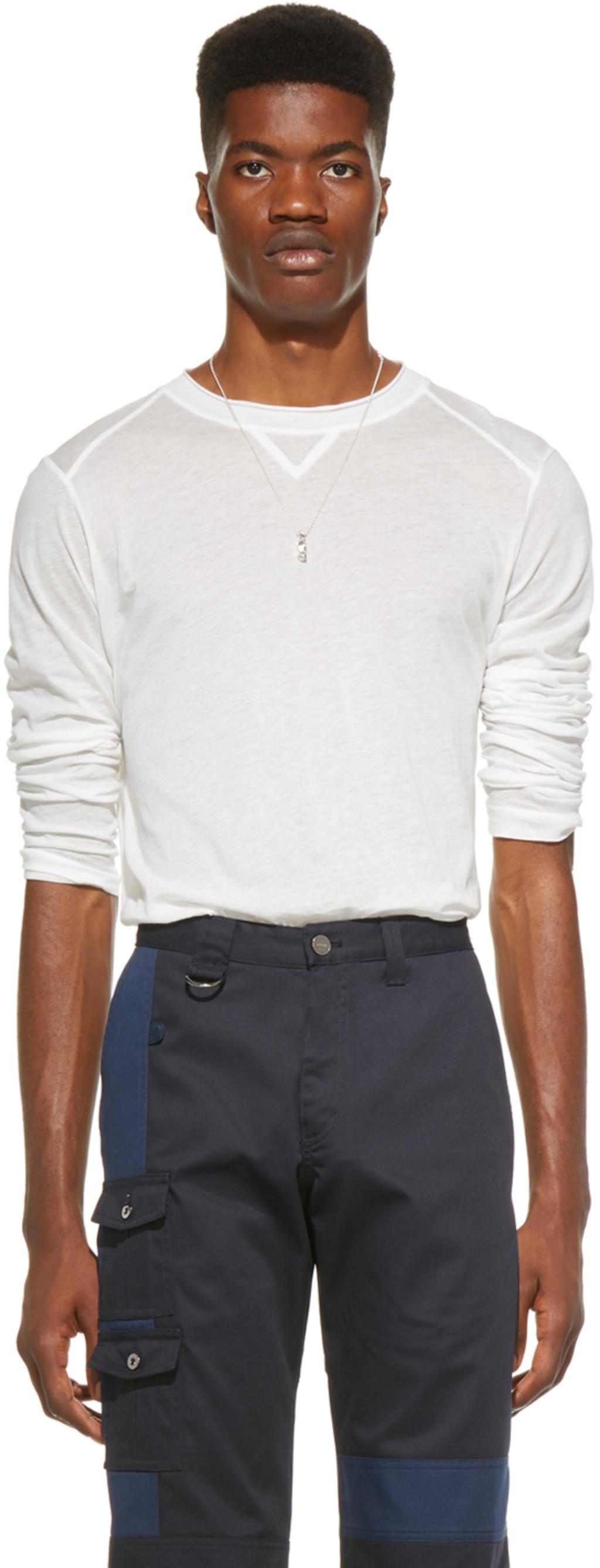 Blanc Manches Shirt T Yvan' 'le À Longues 8OvmNwn0