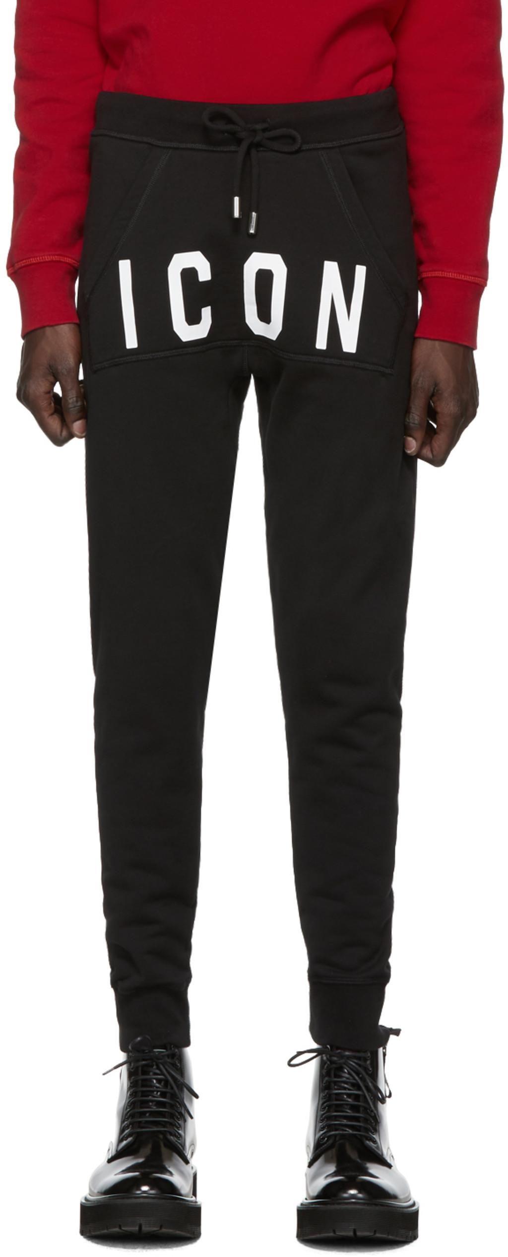 'icono' de negro Pantalones Pantalones chándal rWdBoeCx