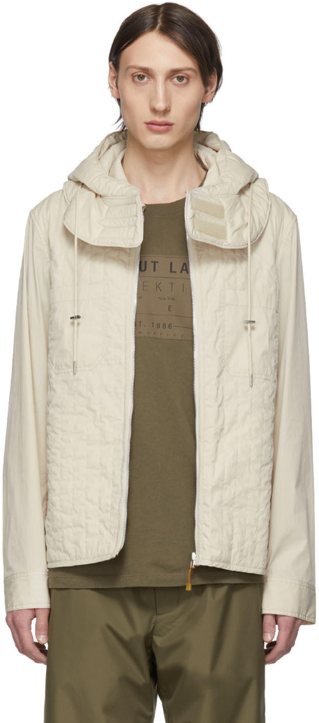 Quilted Off Zip White Jacket zMUVpLqGS