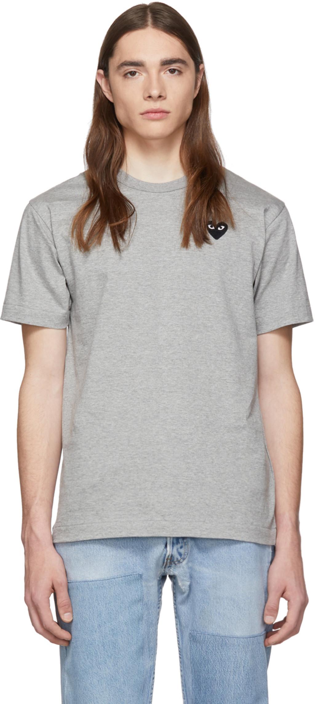 Shirt Gris Patch Noir Heart Et T OvmN8wn0