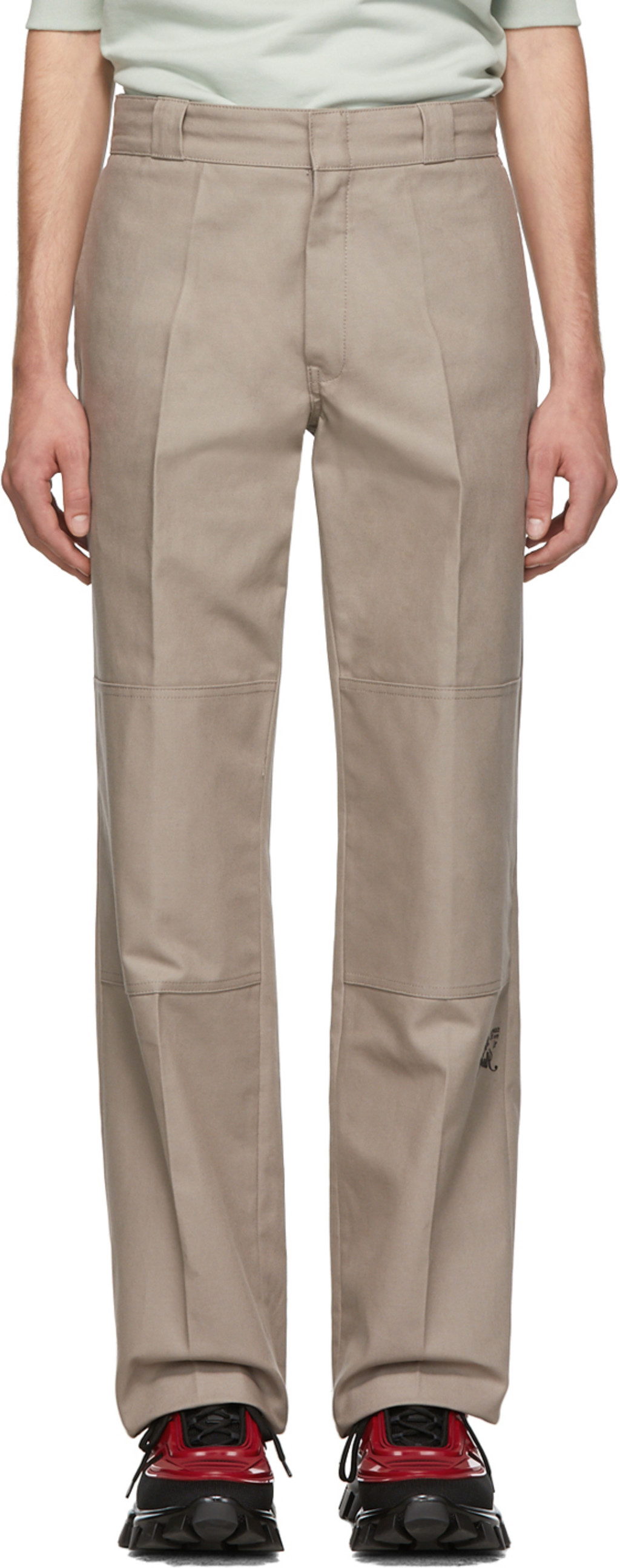 Trousers Fit Straight 'illusion' Taupe 'illusion' Fit Straight Taupe fb6gyY7