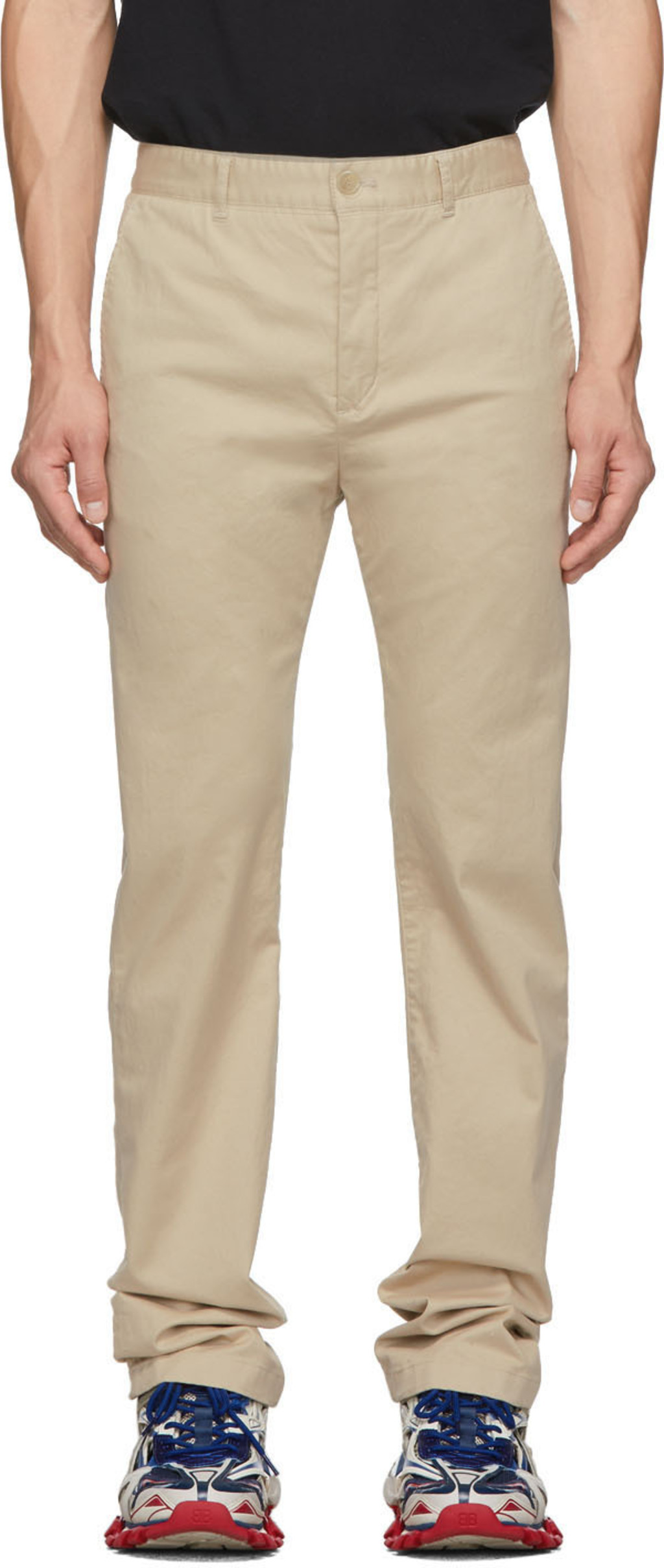 Cotton Cotton Beige Twill Beige Twill Trousers Trousers dCxoQeWrB