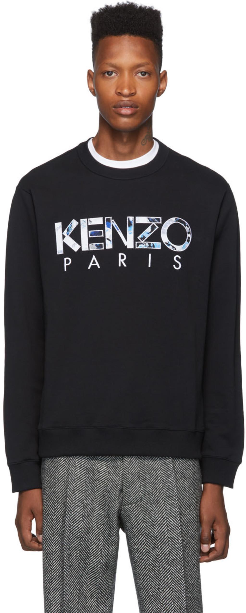 Classic Paris' Sweatshirt Paris' 'kenzo 'kenzo Black Classic Black xWroeQdCB
