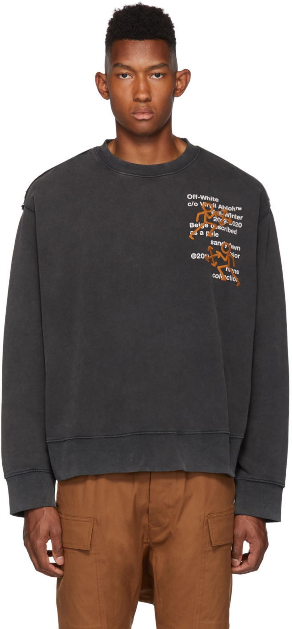 Pictogram Black Sweatshirt Black Pictogram Sweatshirt Incompiuto Incompiuto Black BWdoerCx