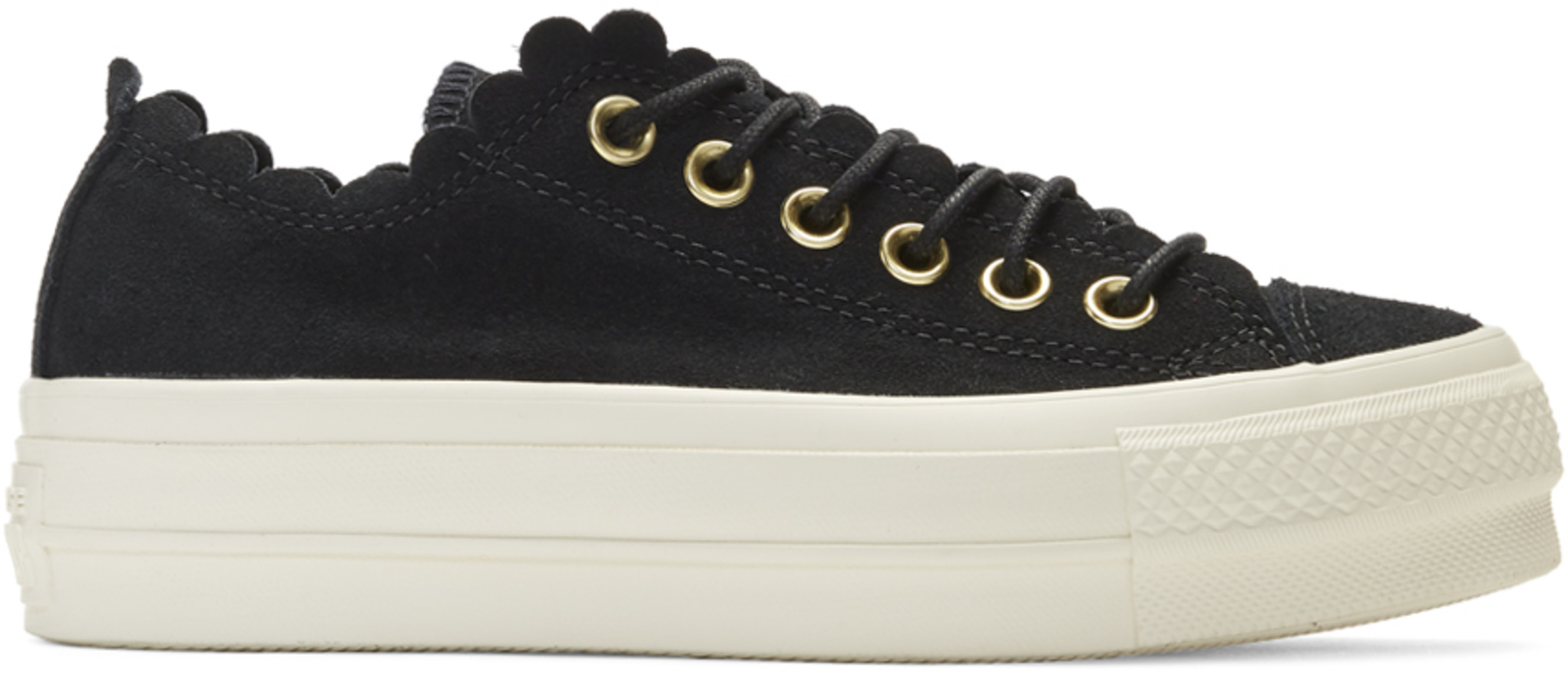 Sneakers All Suede Taylor Thrills Black Frilly Lift Chuck Star 6wf8xxadtq