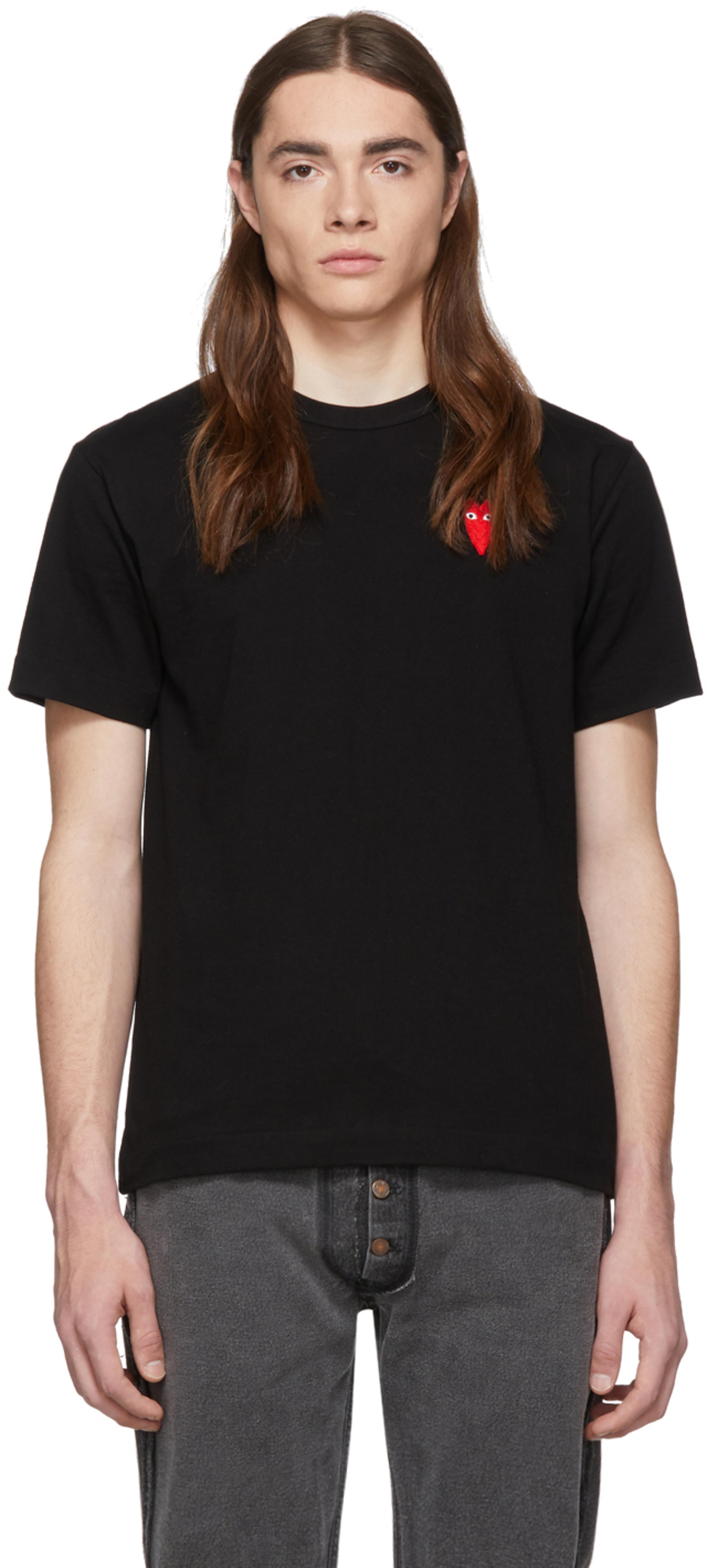 Rouge T Heart Shirt Et Patch Long Noir SzGqULMpV