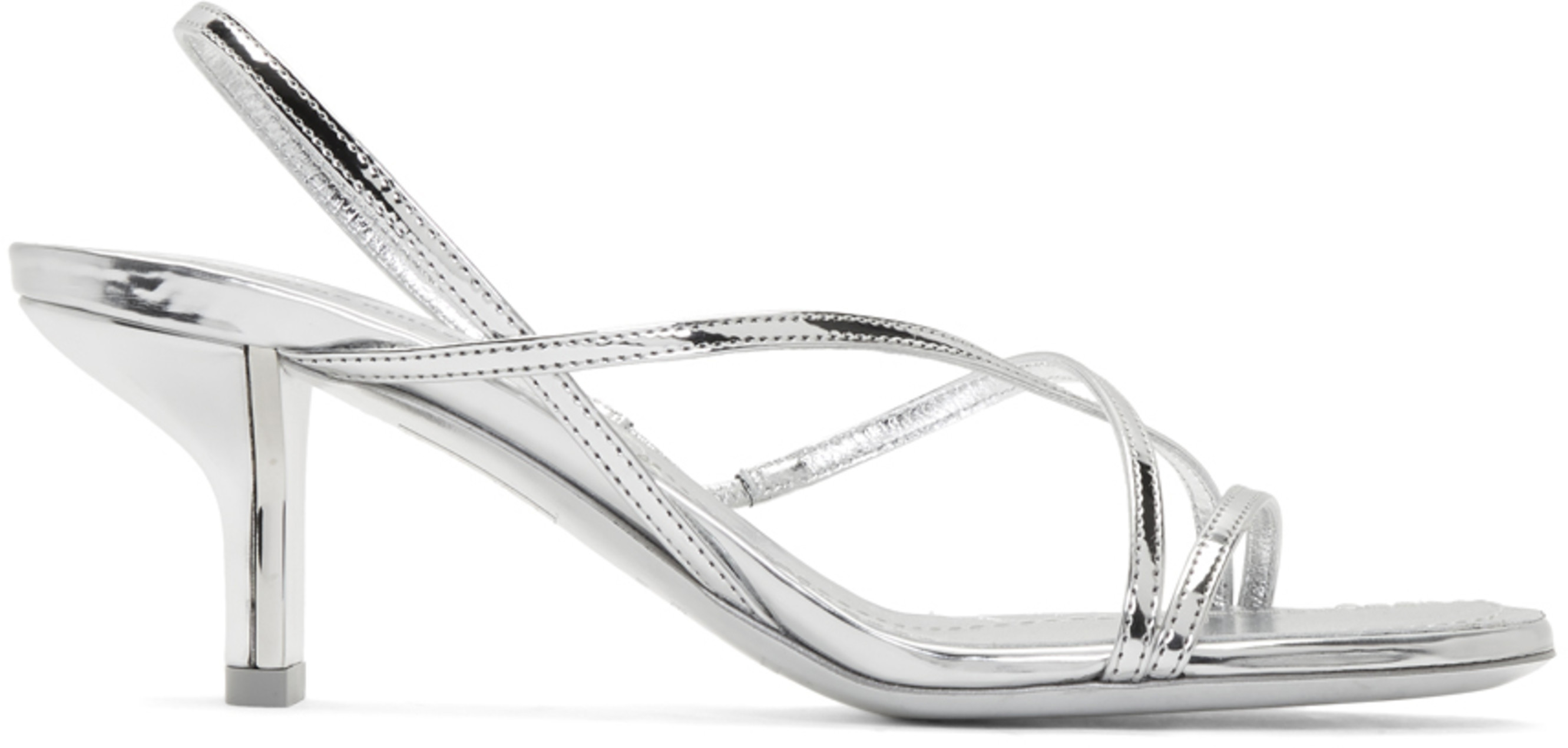 Strappy Silver Leeloo Sandals Sandals Leeloo Strappy Silver SUzVpM