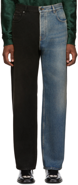Large Fit Indigo Rust Jeans Blackamp; yYf7bvg6
