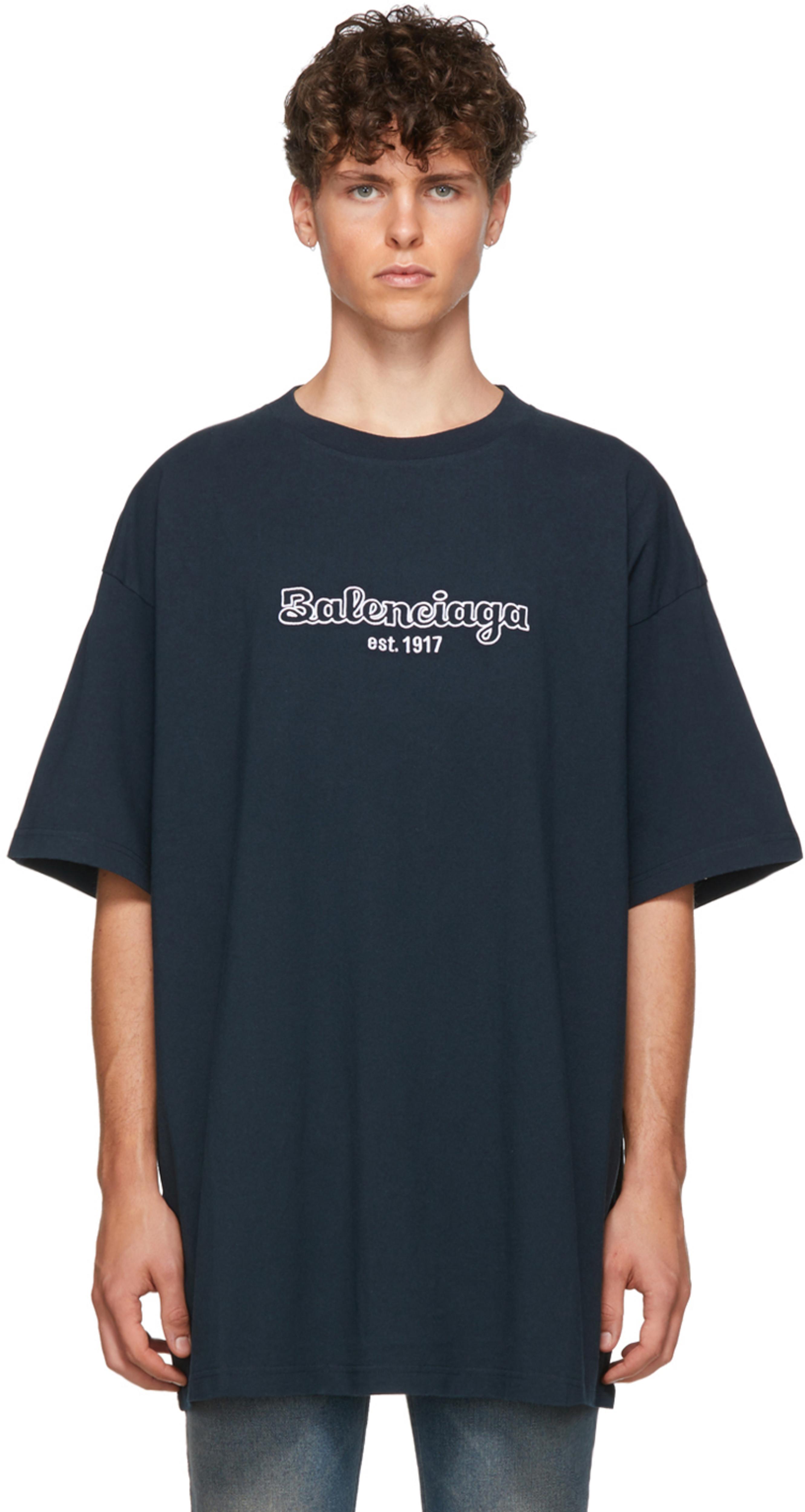 Shirt Et T Bleu Blanc 'est1917' Marine dxtBsrChQ