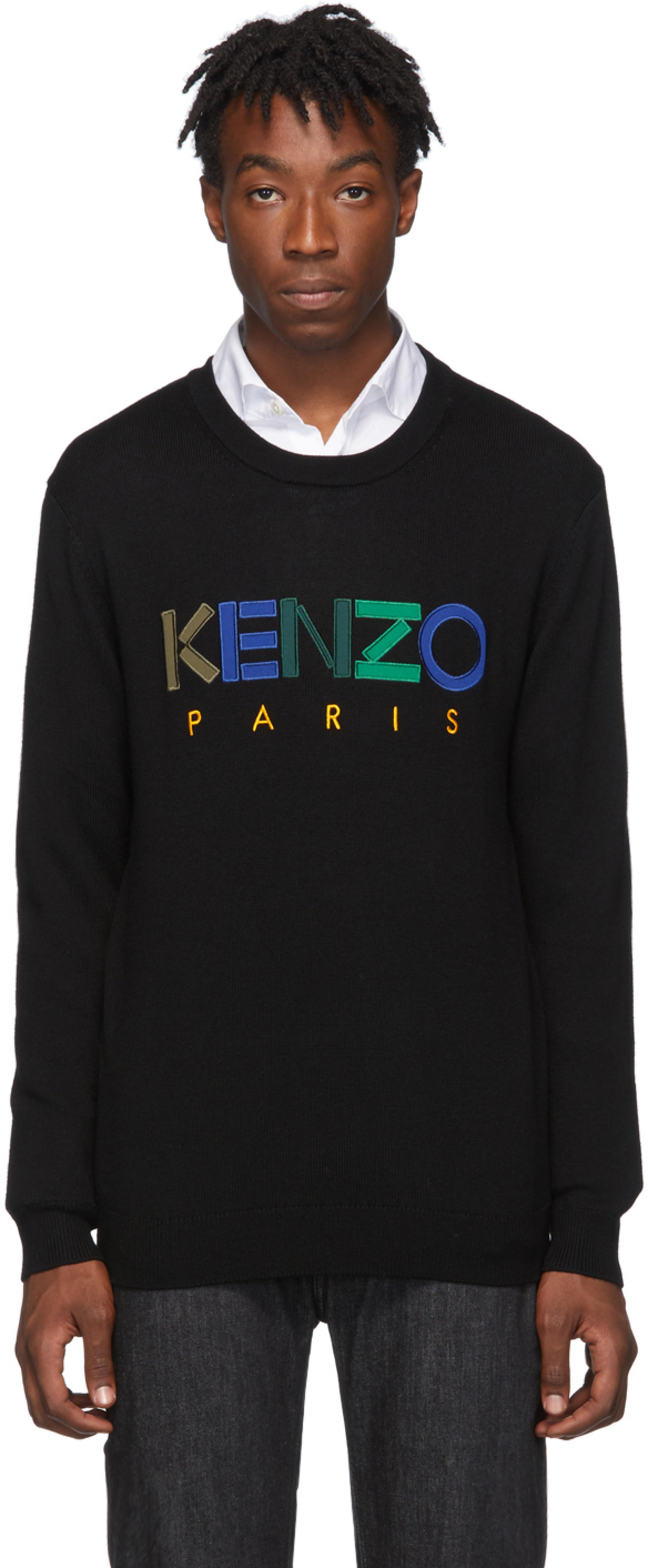 Noir En 'kenzo Paris' Laine Pull Pk0wX8nO