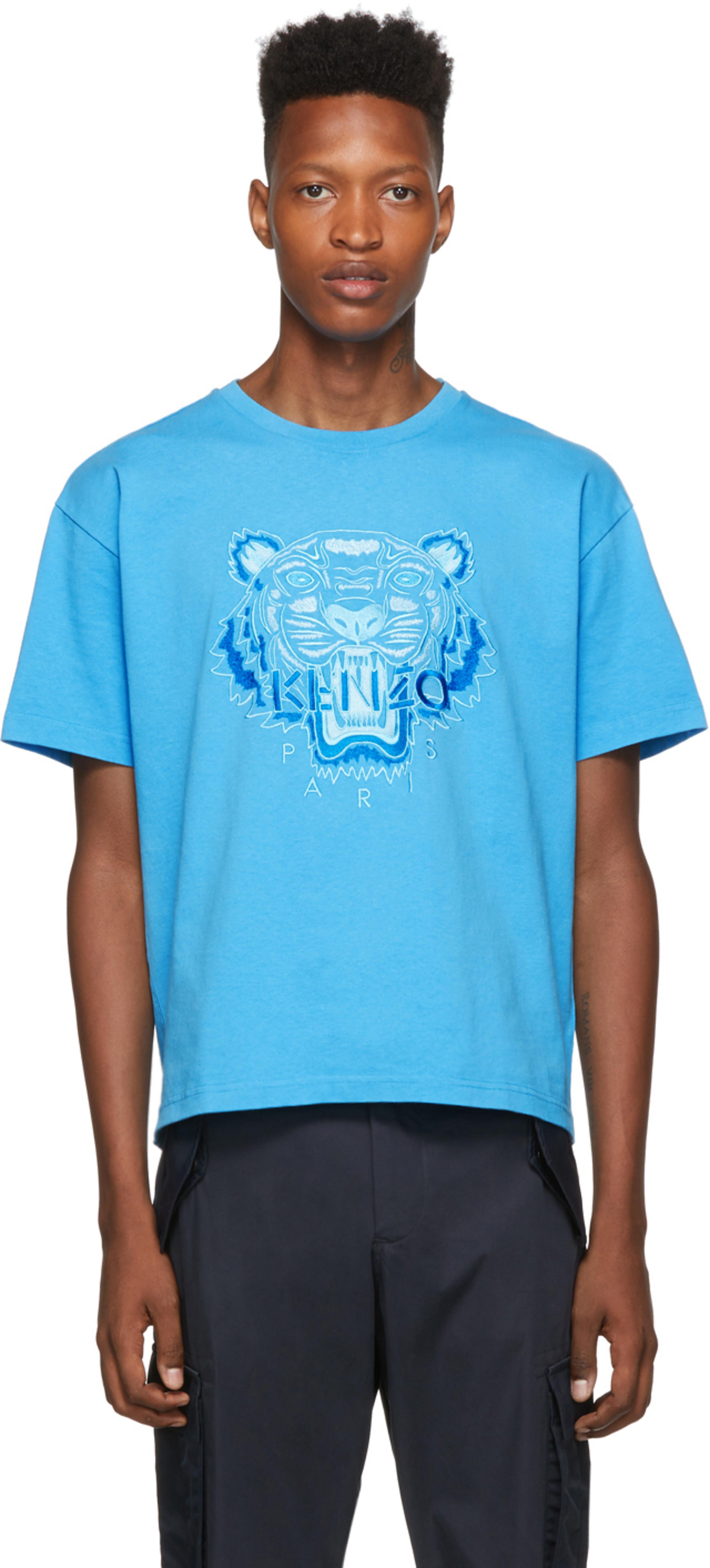 T Icon Tonal Bleu Tiger Shirt jA45LR