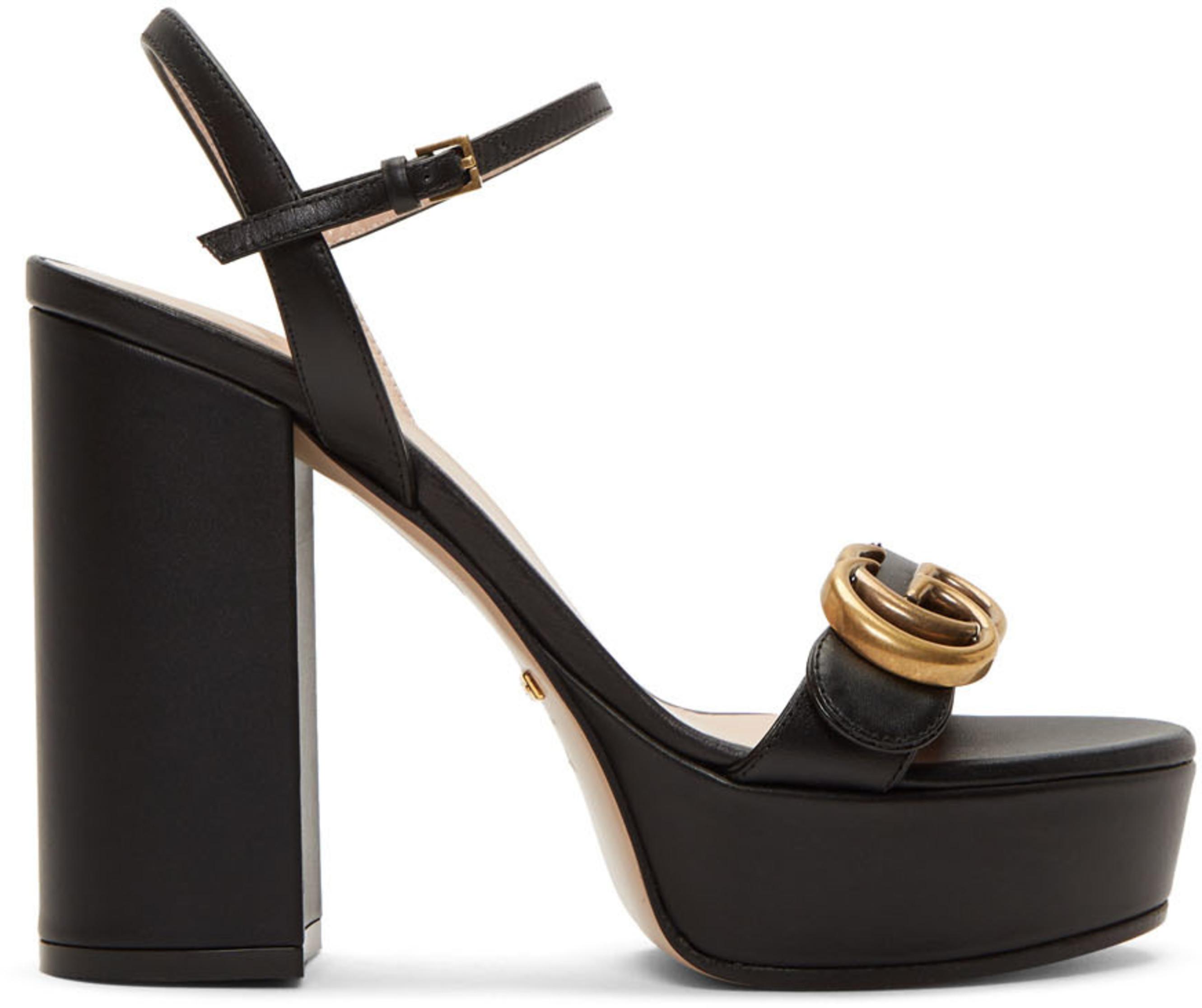 Gg Gg Black Gg Platform Platform Sandals Black Black Sandals wO8yvmN0nP