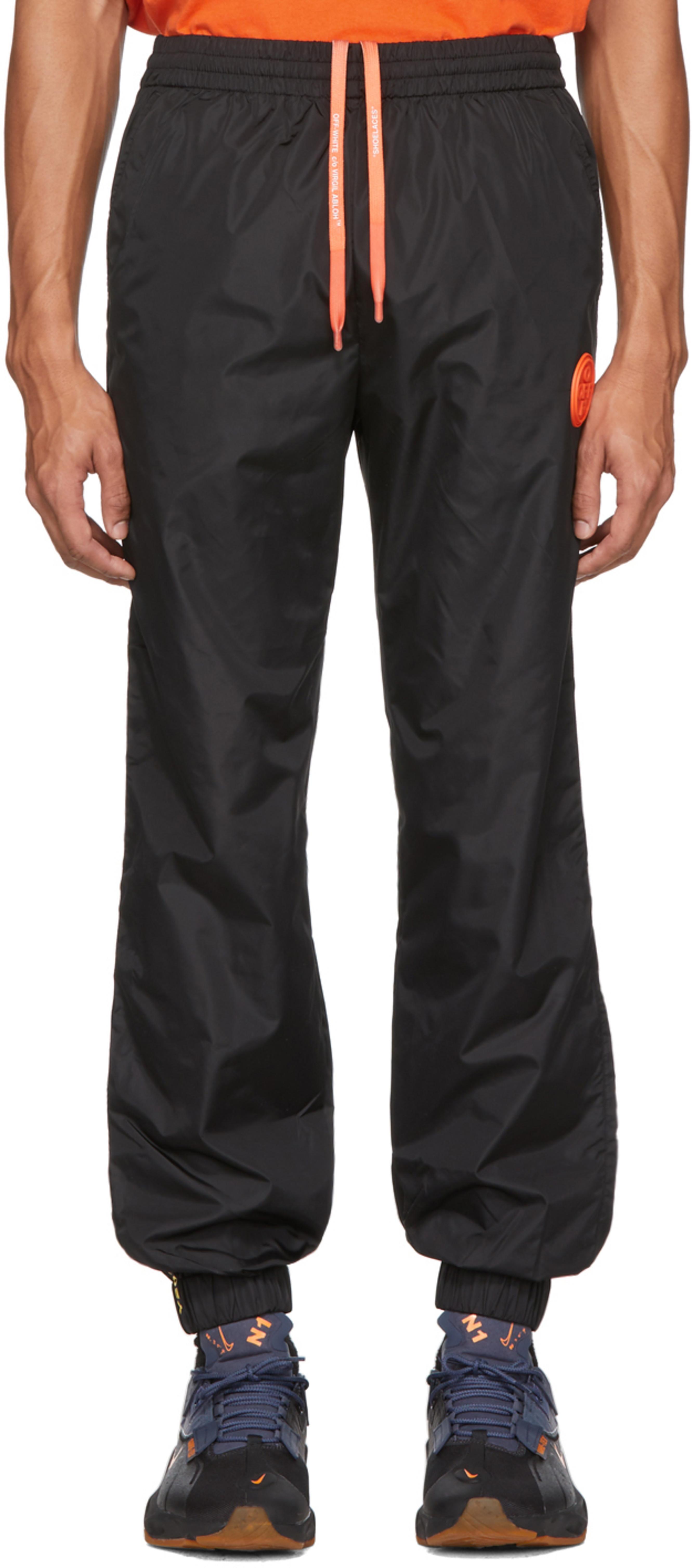 En Pantalon Survêtement Noir De Nylon 8yvN0mOnw