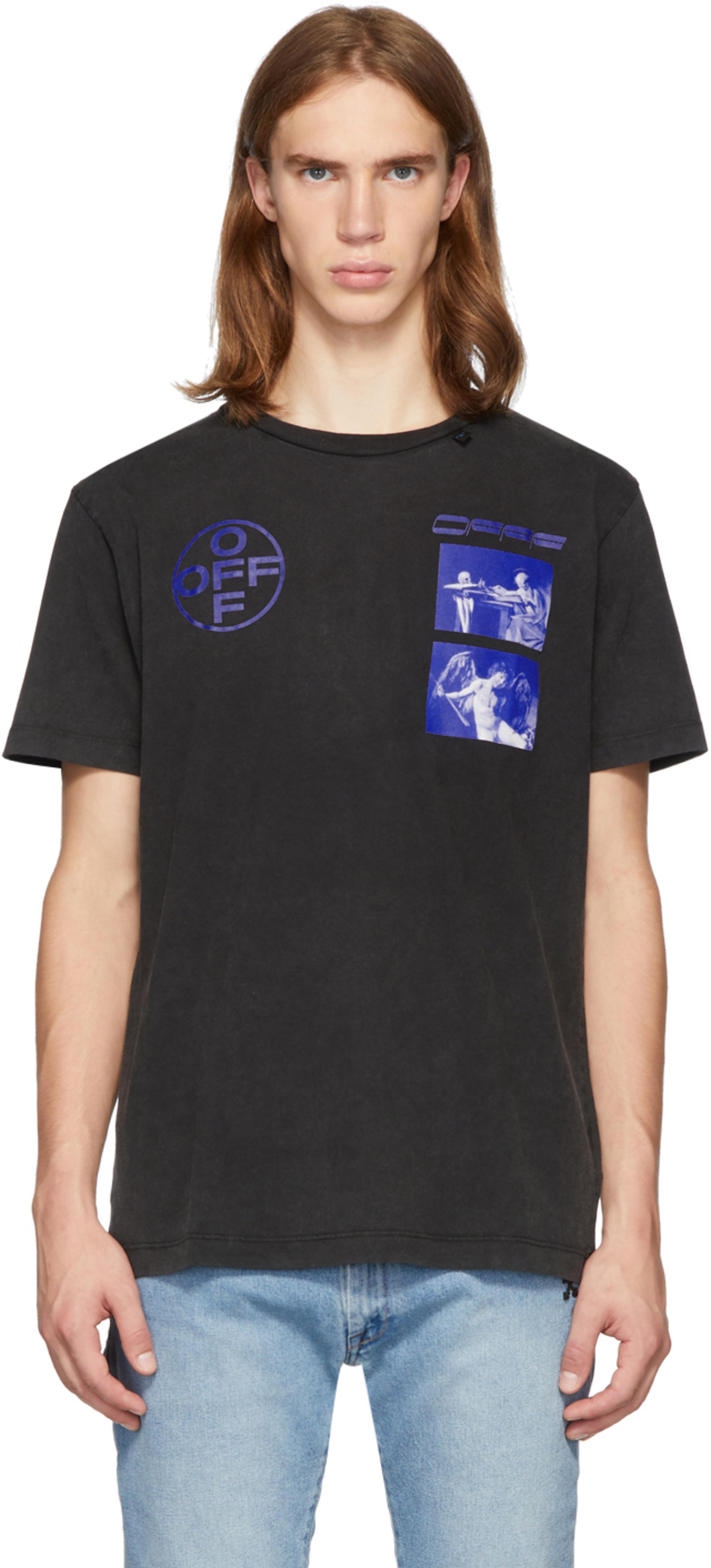 T Et Hardcore Bleu Shirt Noir Ajusté Caravaggio Iy7bf6gvY