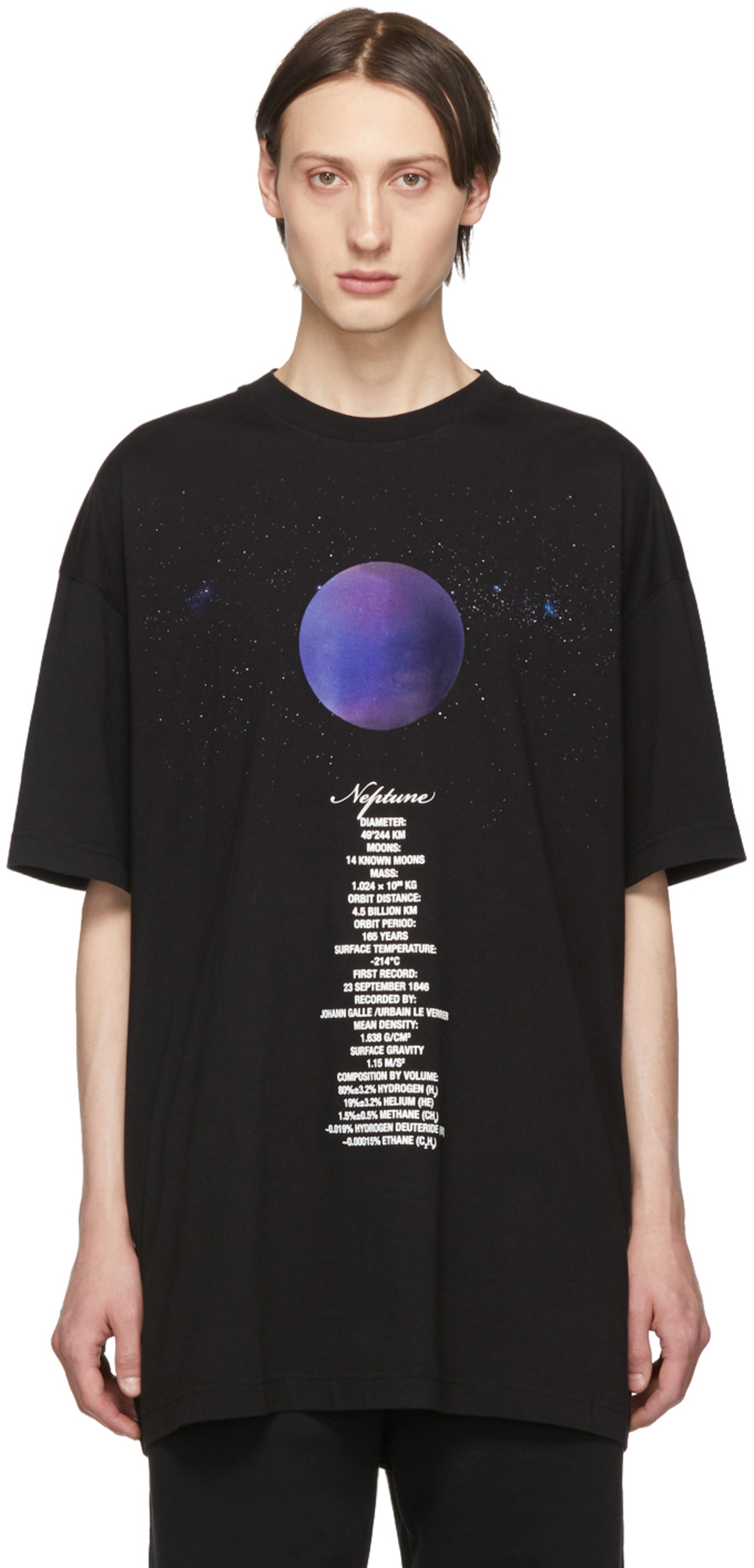 T Black Shirt Neptune Planet Number OPukXZi