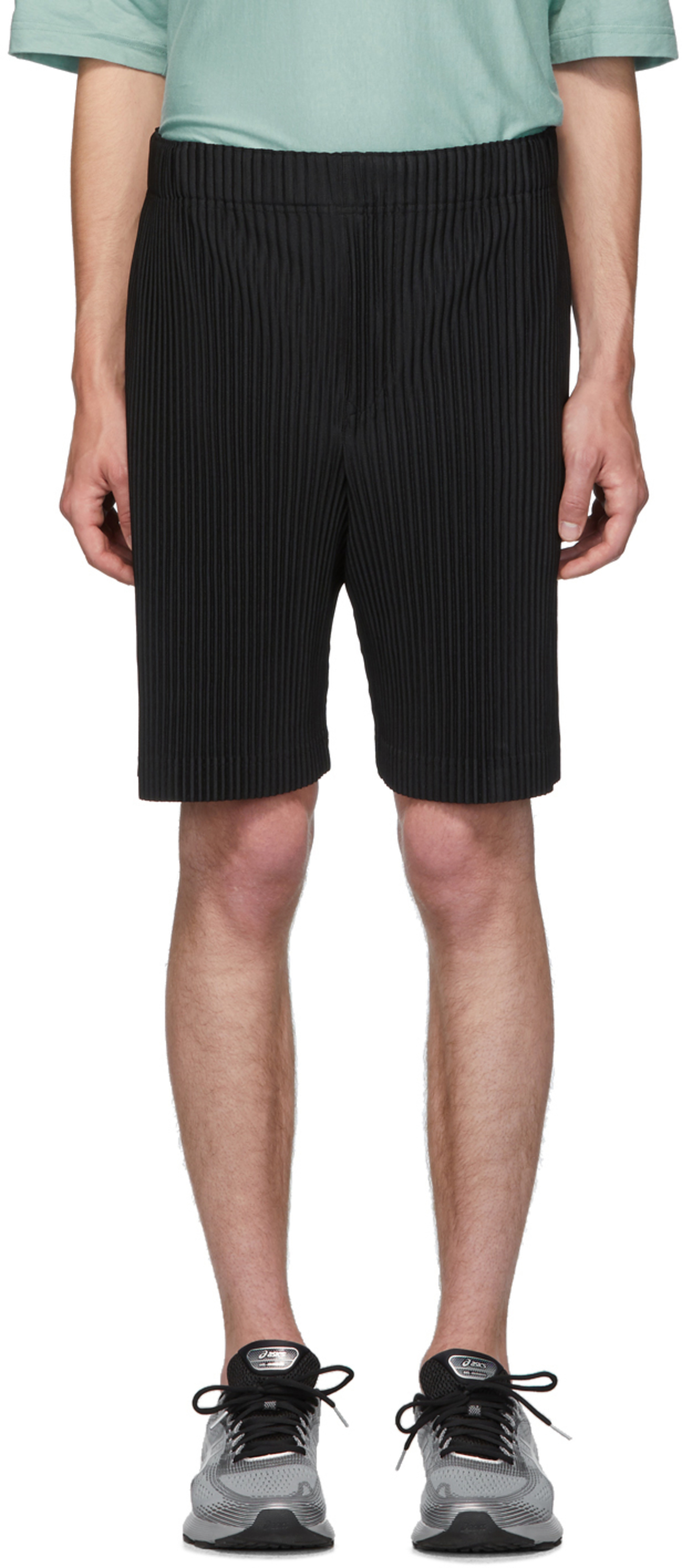 Black June 1 Pleats Mc Bottom Shorts roCdxBe
