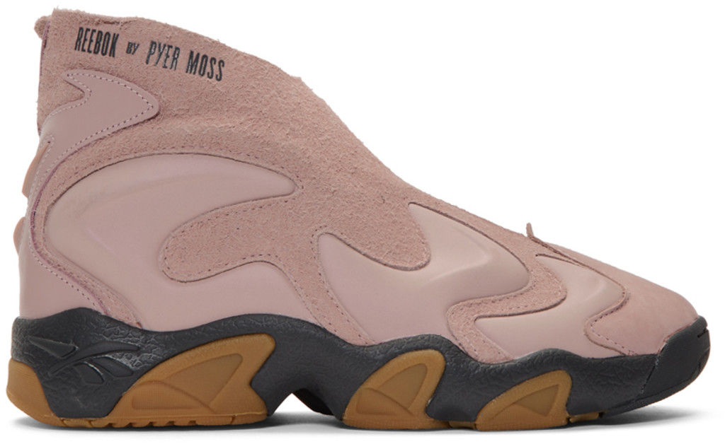 Pink & Tan Mobius Experiment Sneakers