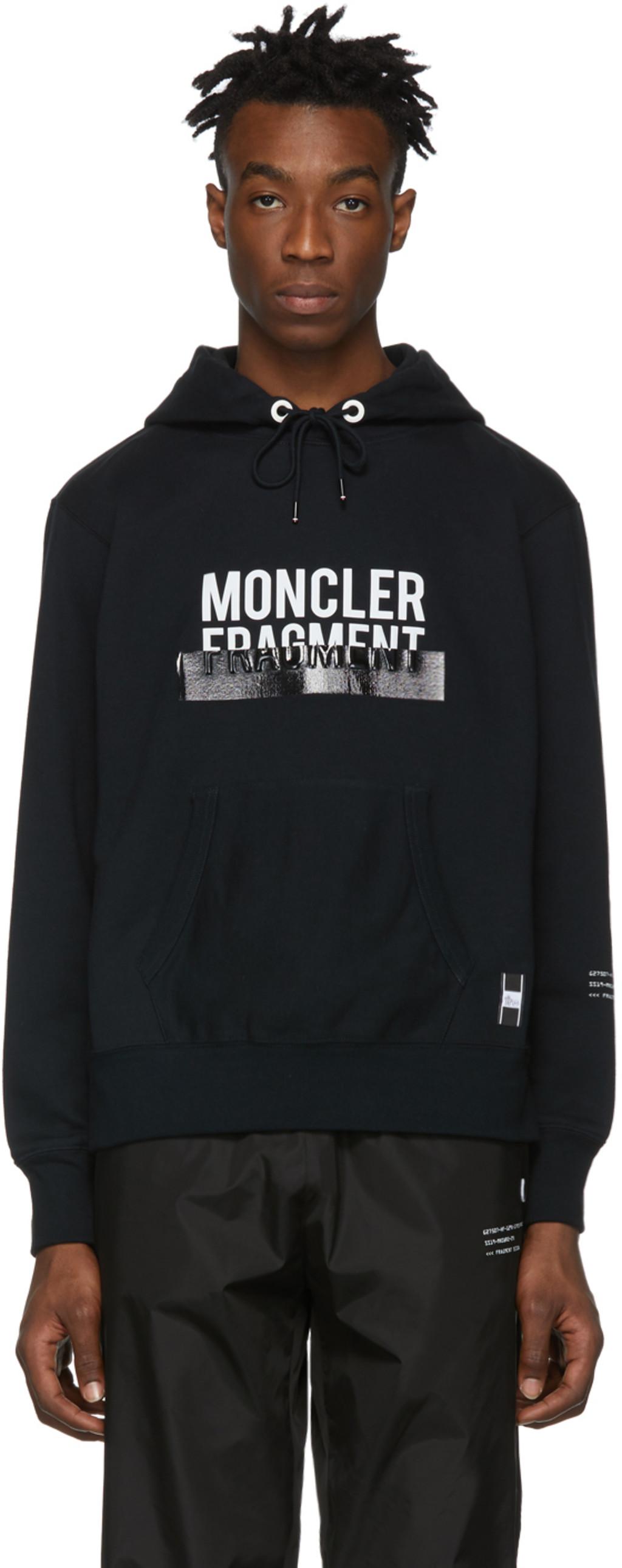 0dc0a43c3 7 Moncler Hiroshi Fujiwara Black Logo Hoodie