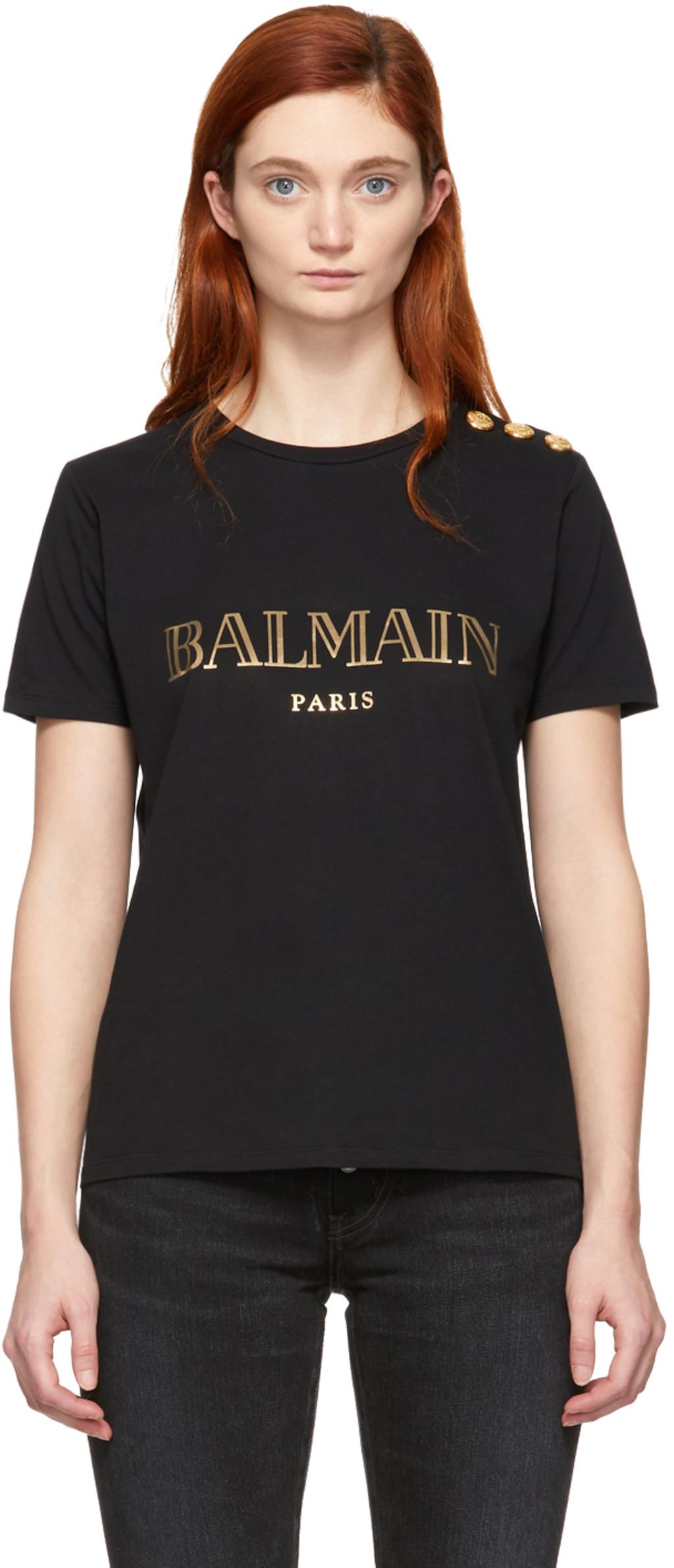 4814c568d Balmain t-shirts for Women   SSENSE Canada