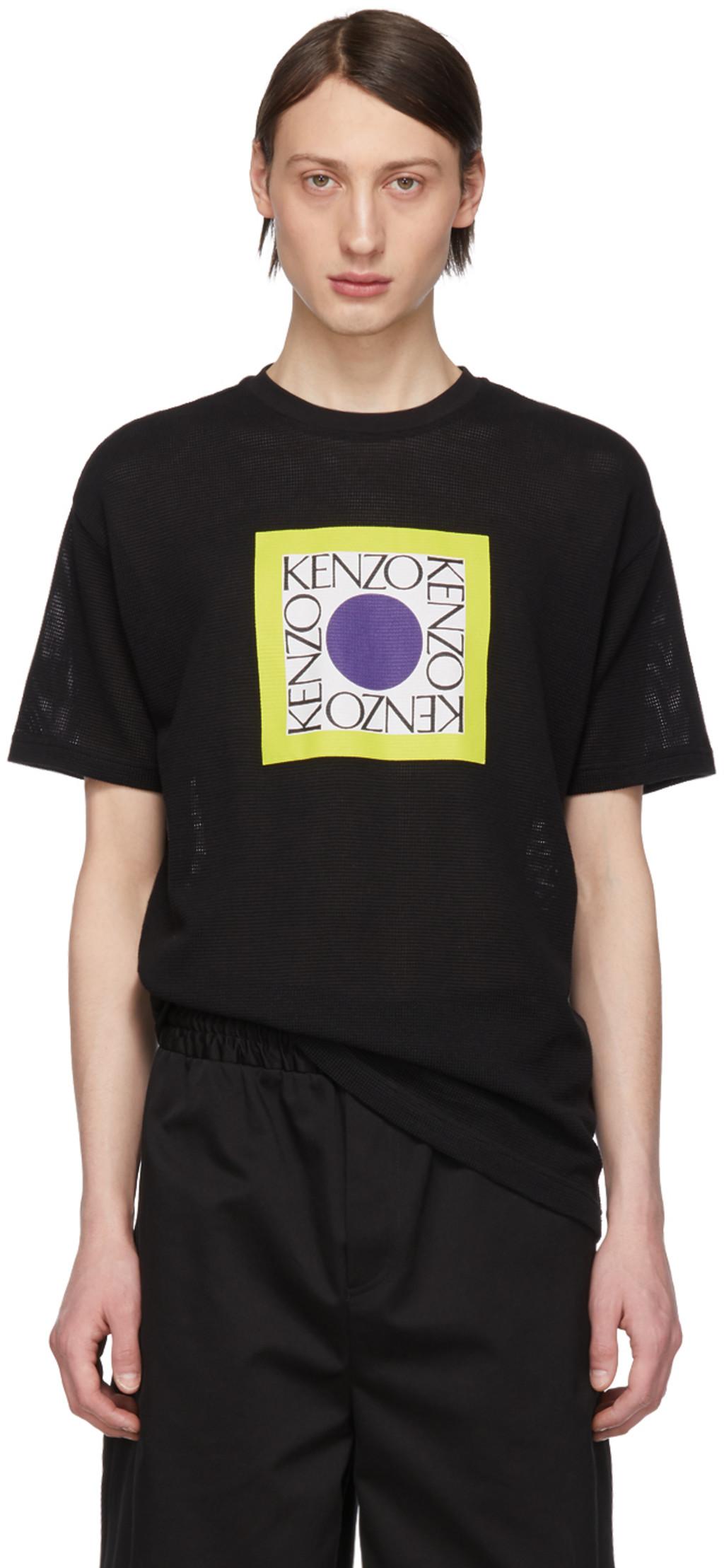 d5765d7983 Black Waffle Straight T-Shirt