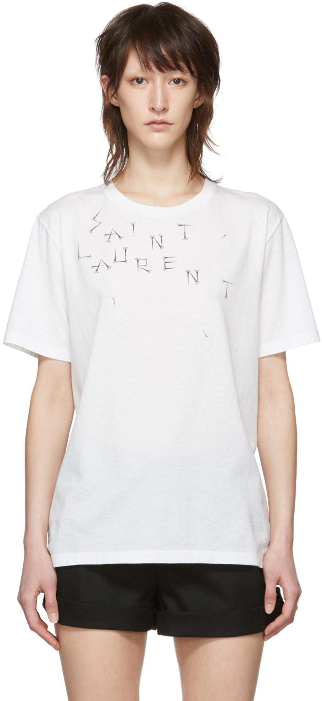 ed00b0709 Saint Laurent t-shirts for Women   SSENSE