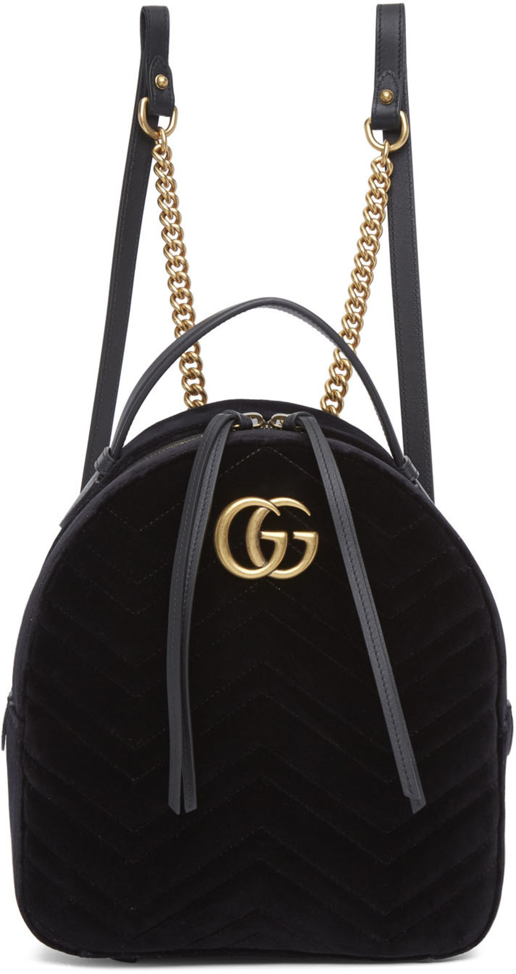 b42ad981 Black Velvet GG Marmont 2.0 Backpack