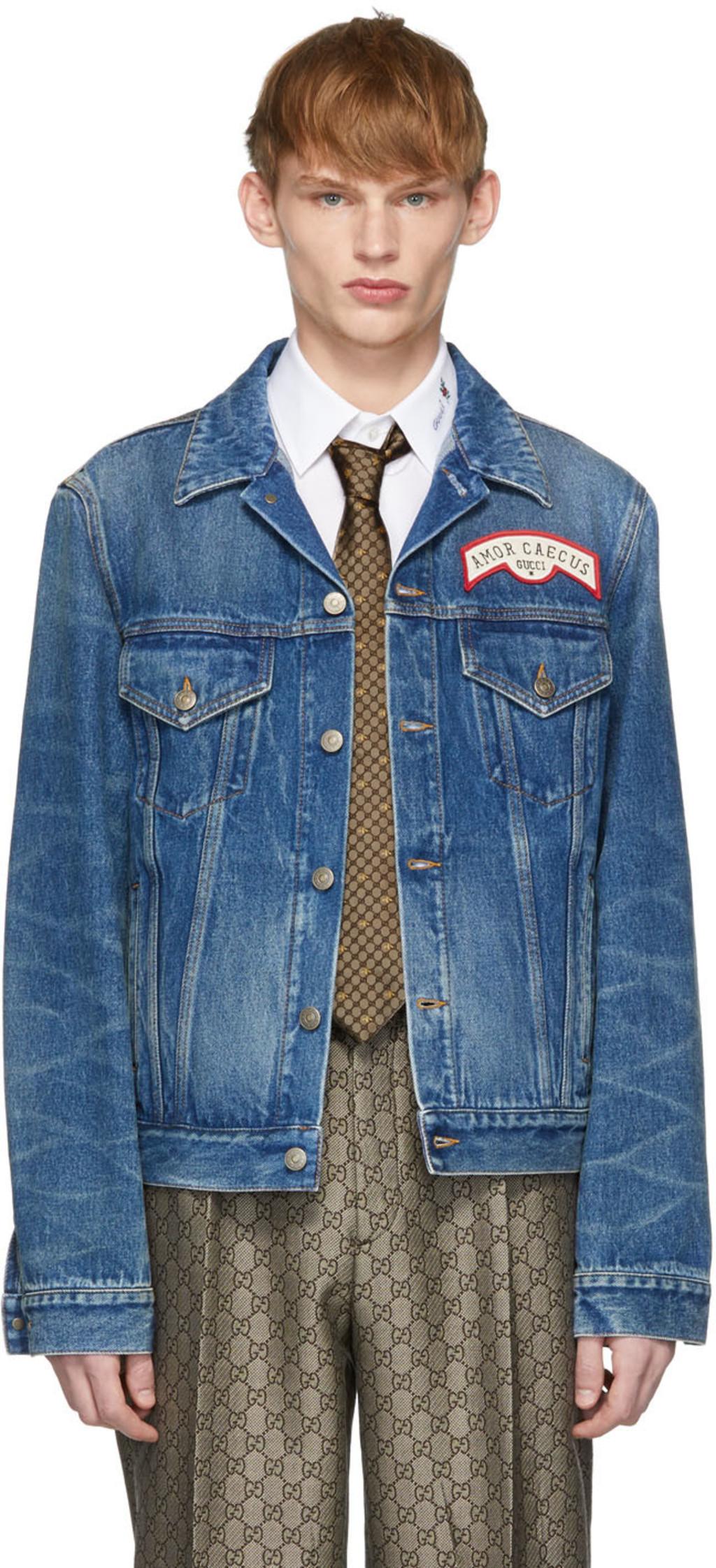 9b1eb7df2 Blue Denim Oversize Patches Jacket