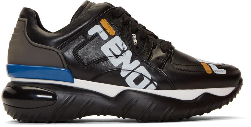 445622b9 Black 'Fendi Mania' Chunky Sneakers