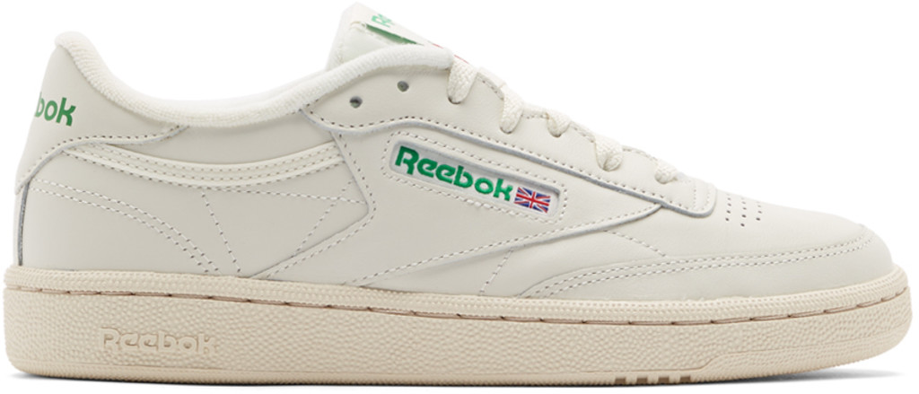 b0744bd60261 Off-White   Green Club C 85 Vintage Sneakers
