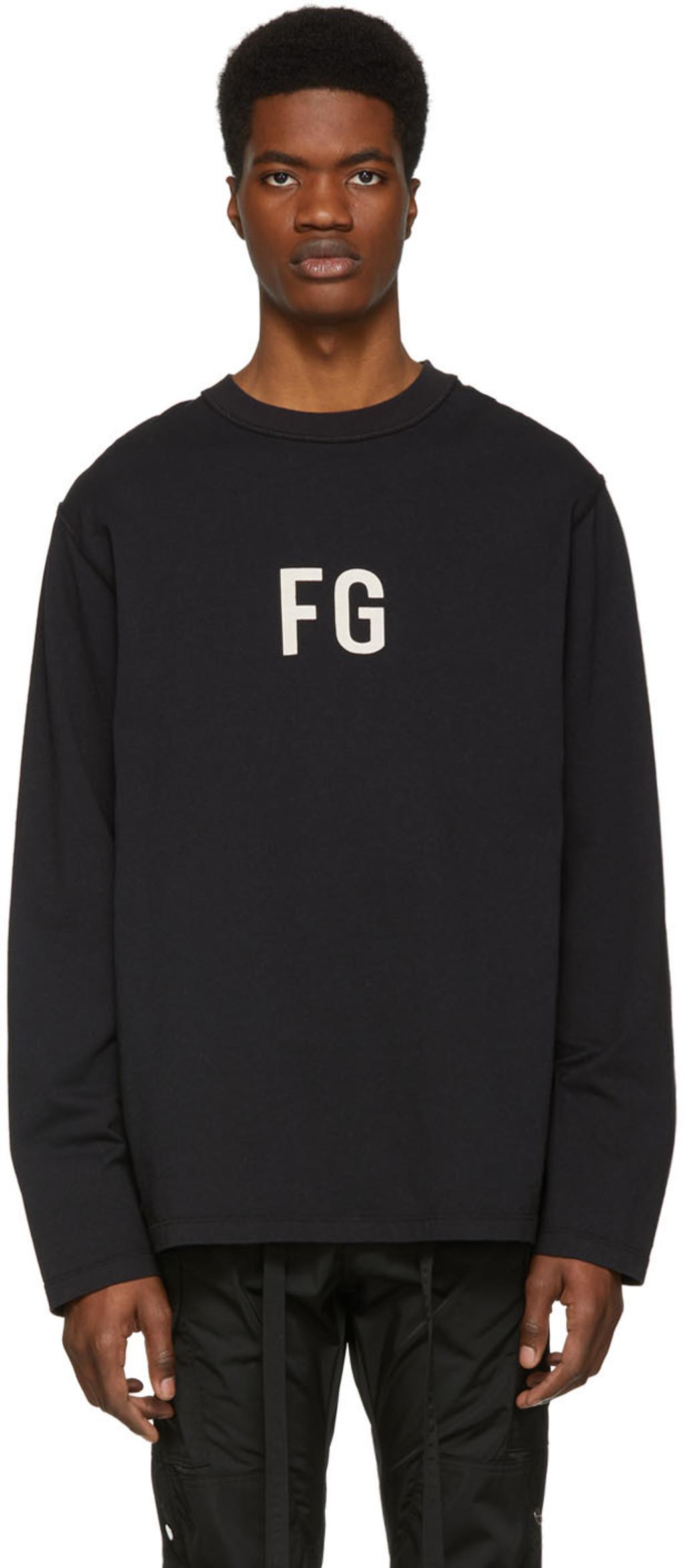 a3942e47a Black 'FG' Long Sleeve T-Shirt