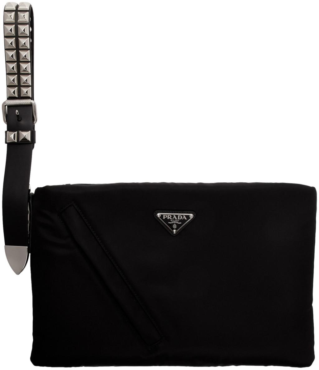 ed7b689d Black Nylon Padded Pouch