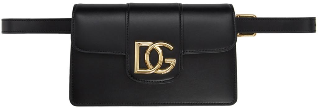 0b583ccb528 Black HW 'DG' Belt Bag