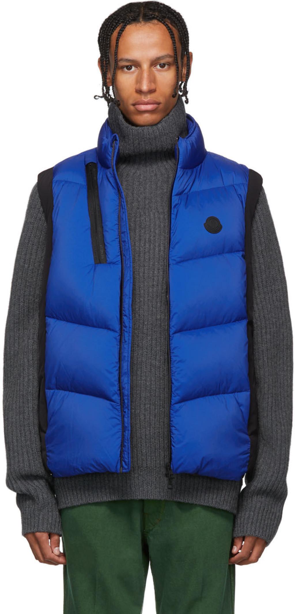 3e78effdb Black & Blue Down Jacot Vest