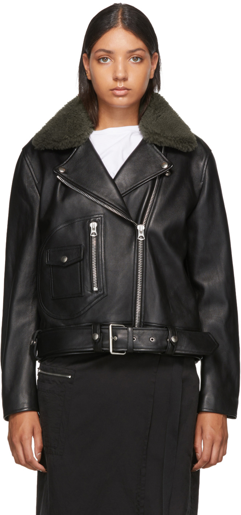 13fb4ece9 Black Leather Merlyn Jacket