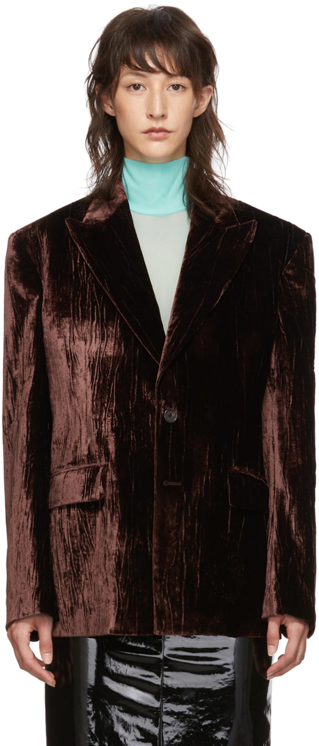 3aa2e0753 Brown Crushed Velvet Blazer